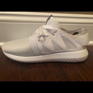 white adidas tubular womens size 9